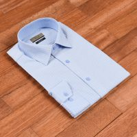 엘르옴므 헤링본도비 세미와이드 슬림 긴소매셔츠 E174S-93612
