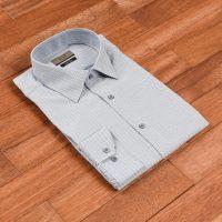 엘르옴므 헤링본도비 세미와이드 슬림 긴소매셔츠 E174S-93613