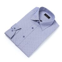 엘르옴므 위사스트라이프프린트 세미와이드 레귤러 긴소매셔츠 E174R-94092