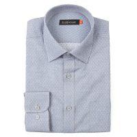 엘르옴므 올오버도비 세미와이드 레귤러 긴소매셔츠 E174R-93033
