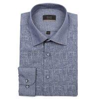 엘르옴므 TTC앞판프린트 세미와이드 레귤러 긴소매셔츠 E181R-22152