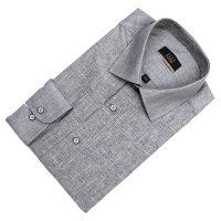 엘르옴므 TTC앞판프린트 세미와이드 레귤러 긴소매셔츠 E181R-22153