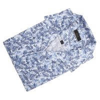 엘르옴므 잎프린트서커 오픈카라 레귤러 반소매셔츠 E183R-22372
