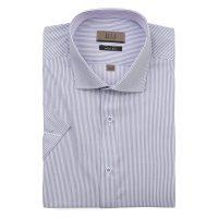 엘르옴므 스트라이프 세미와이드 슬림 반소매셔츠 E183S-22522
