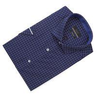 엘르옴므 스티치체크 레귤러카라 슬림 반소매셔츠 E183S-22550