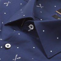 보트프린트 세미와이드 슬림 반소매셔츠 E183S-22560