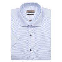 엘르옴므 위사스트라이프 세미와이드 슬림 반소매셔츠 E183S-22822
