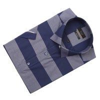 엘르옴므 위사스트라이프 레귤러카라 슬림 반소매셔츠 E183S-22880