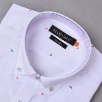 엘르옴므 필라필돌고래프린트 버튼다운 슬림 긴소매셔츠 EAGMS-73151
